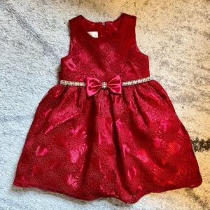 American Princess Red Holiday Christmas Dress 2t